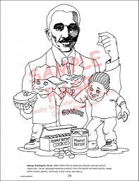 george washington carver coloring page printable periodic tables