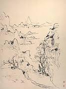 huang binhong sketches of twelve strange mountain peaks china