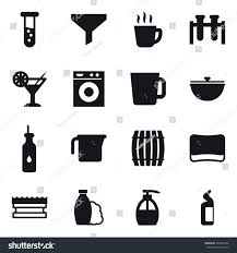 cocktail icon vector 16 vector icon set vial funnel stock vector 729435358 shutterstock