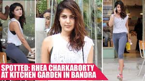 cute rhea chakrabarty snapped at the kitchen garden in bandra
