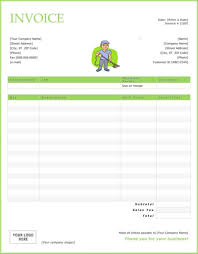 Make Your Own Invoice Template Download Invoice Template For Janitorial Services Rabitah Net