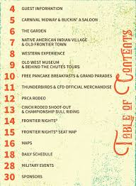 Frontier Seat Map 2017 Cheyenne Frontier Days Schedule Of Events