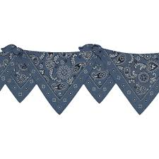 discount wallcovering blue bandana die cut border shw096