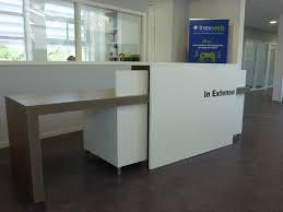 comptoir de bureau mobilier de bureau comptoir d accueil sur mesure à cherbourg