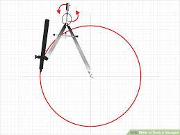 3 ways to draw a hexagon wikihow