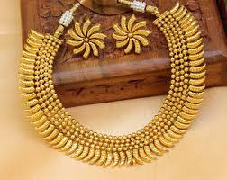 gold small necklace designs images Buy gorgeous designer gold plated necklace set online jpg