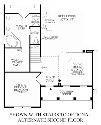 Stairs In Floor Plan by Regency At Palisades The Waverly Home Design