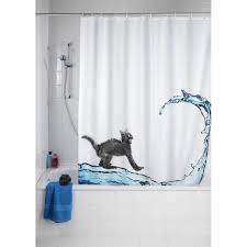 rideau de rideau de blanc anti moisissure wenko design chat ac deco