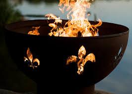 Fleur De Lis Utensil Holder Fire Pit Art Fleur De Lis Fire Pit U0026 Reviews Wayfair