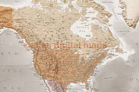 World Map Antique by Rolled Canvas Antique Style Stone World Map Large Size 60