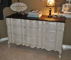 painted french provincial triple dresser accented with modern
