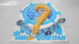 frozen elsa cake decorations easy youtube