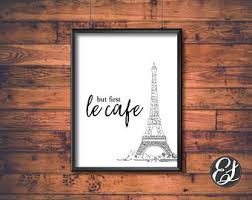 Cafe Home Decor French Cafe Poster Etsy