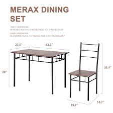 amazon com merax 5 piece dining set table and chairs kitchen
