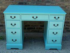 teal blue desk restoration redoux painted furniture