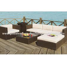 wicker garden patio sun bed rattan outdoor leisure double daybed