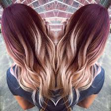 blonde and burgundy hairstyles here s what no one tells you about maroon ombre hair maroon