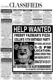 five nights at freddy u0027s custom birthday invitation you print
