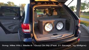 jeep grand sound system jeep grand 2012 sound system with 22 rims infinity