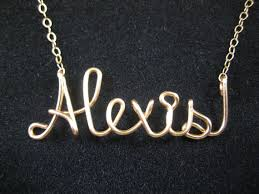 14 karat gold filled personalized name necklace wire name