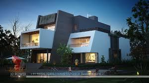 exterior view 3d exterior villas night view home design