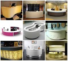 high end semi round spa front counter salons reception desk led round reception