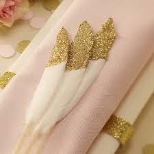 pastel metallic gold pastel pink gold partyware