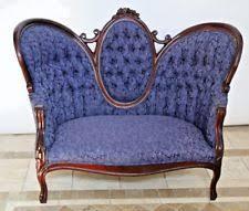 Loveseat Settee Blue Antique Sofas U0026 Chaises Ebay