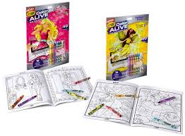 amazon crayola color alive action coloring pages combo
