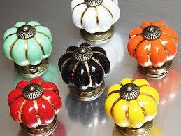 black ceramic cabinet knobs pumpkin knobs dresser knob drawer pulls handles ceramic cabinet