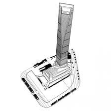 shanghai world financial tower 3d model cgstudio