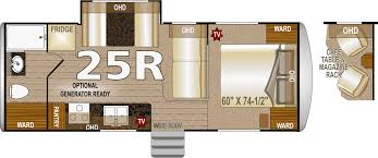2 Bedroom Travel Trailer Floor Plans Northwood Arctic Fox 25r