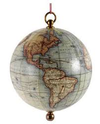 the savvy traveller globe ornaments