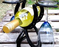 horse shoe wine rack etsy
