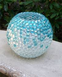 Pretty Vase Make A Pretty Vase Out Of Marbles And A Mayo Jar