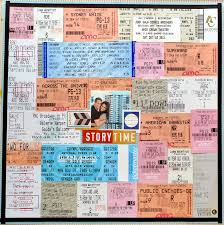 ticket stub album my analog scrapbook basics ticket and broadway show