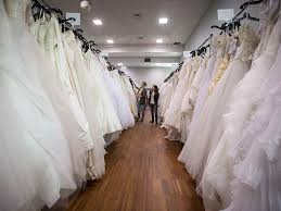 wedding dress sale something brides turn to second decor dresses to cut