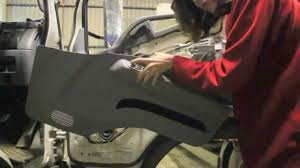 mitsubishi fuso canter door panel removal youtube