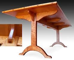 shaker dining table birdseye maple finewoodworking