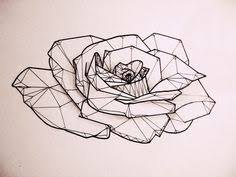 tattoo geometric outline geometric flower tattoo base pinteres