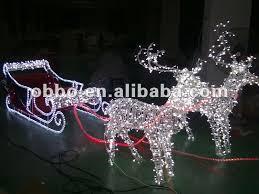 outdoor reindeer sleigh motif dma homes 80538