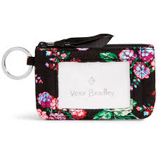 vera bradley iconic zip id in winter berry handbags