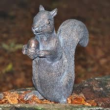 squirrel garden sculpture ornamental animals