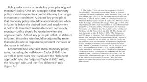 economics one a blog by john b taylor a whole new section on policy rules in fed s report