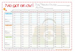 7 best images of printable daily medication schedule chart blank
