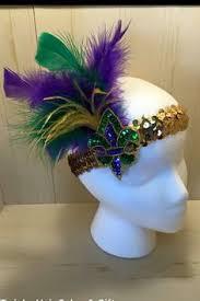 mardi gras headbands mardi gras purple green and gold masquerade mask sweetheart