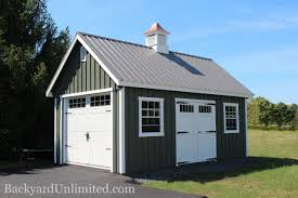 Double Car Garage by Sheds New England Backyard Unlimited