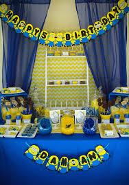 Minion Birthday Decorations My Hobby My Art Minion Birthday Party Minion Candy Bar