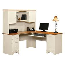 L Shape Table Corner L Shaped Office Desk With Hutch Black And Cherry Massive
