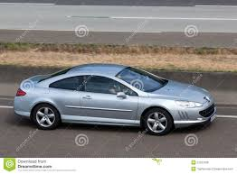 peugeot 407 coupe peugeot 407 coupe on the highway editorial stock photo image